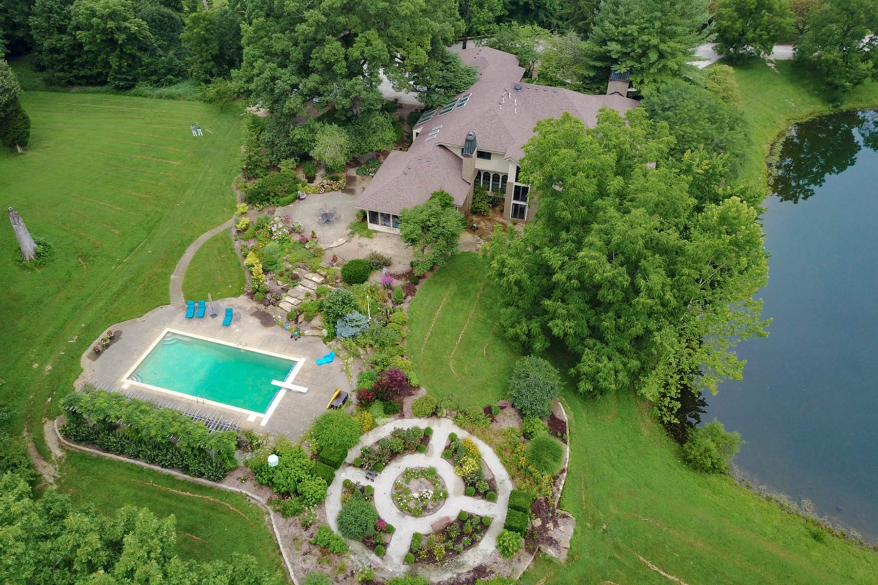 Single Family Homes for Sale at Scenic 60 Acre Equestrian Estate 2225 E Maple Turn Road Martinsville, Indiana 46151 United States