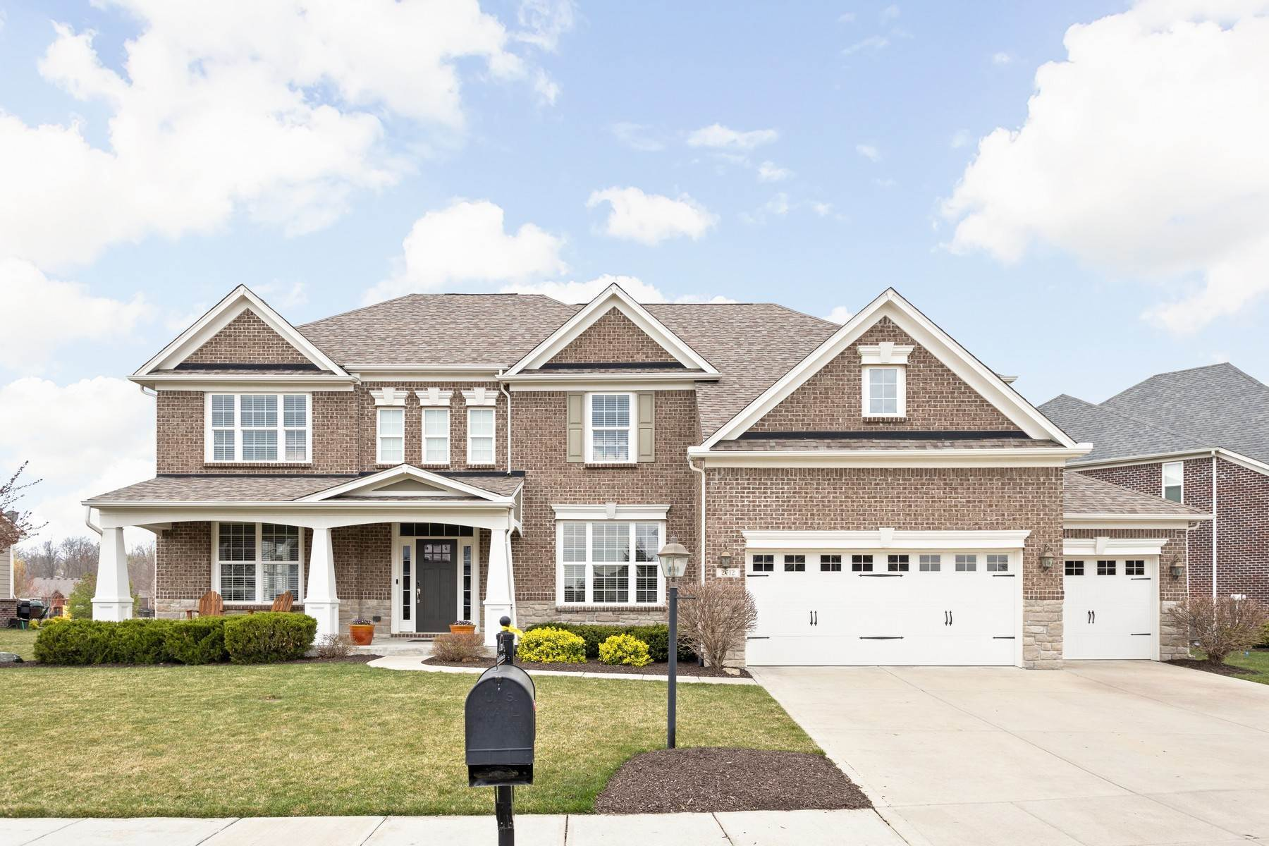 Single Family Homes for Sale at Wonderful Residence in Brookhaven 2712 East High Grove Circle Zionsville, Indiana 46077 United States