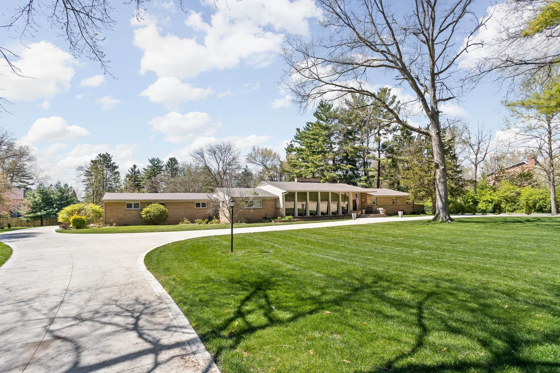 Single Family Homes for Sale at Beautiful Mid Century Modern 6490 Spring Mill Road Indianapolis, Indiana 46260 United States